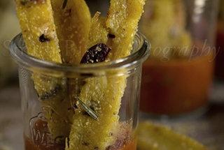 crispy olive polenta sticks with marinara more crispy olive polenta ...