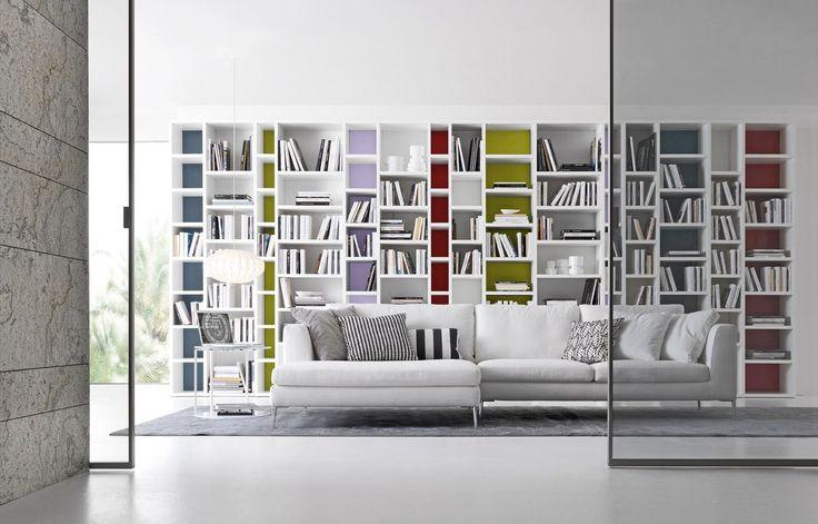 libreria moderna in legno PARI DISPARI 341 Presotto Italia