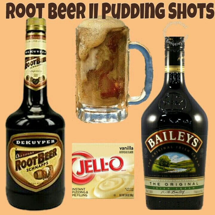 Root Beer Float II Pudding Shots.  See full recipe and more in the Flavors/Recipe's Photo Album & Time Line on www.facebook.com/puddingshots1