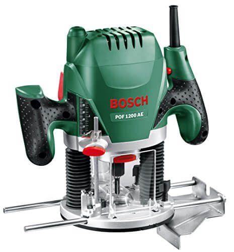 🔨 🔧 Oberfräse Bosch POF 1200 AE 🔨 🔧 Bosch-SDS-System: werkzeugloses Einsetzen der Kopierhülse 🔨 🔧 Mit Spindelarretierung für schnelles Fräserwechseln