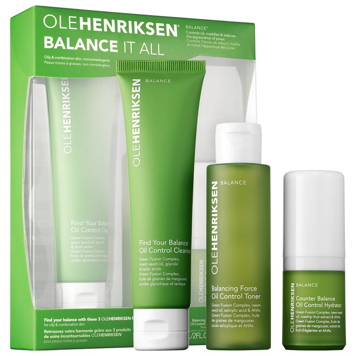 Shop Ole Henriksen's Balance It All™ Essentials Set at Sephora. It includes a three-piece travel set of oil-controlling skincare products.