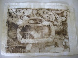 Painting On: Paper Lithography/Gum Arabic Transfers