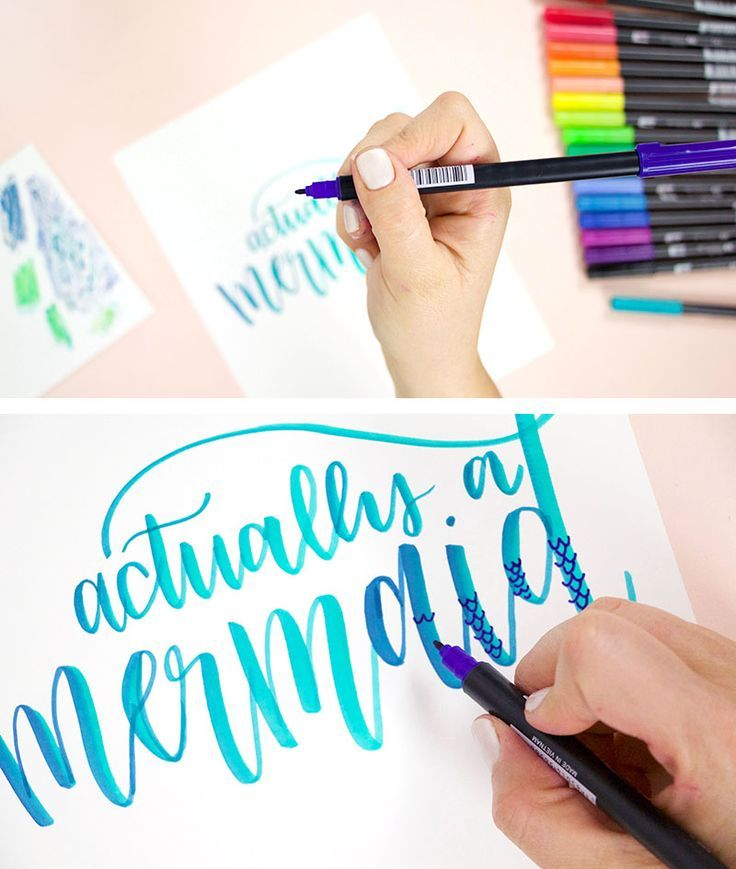 How To Hold Your Waterbrush When Lettering Water Brush Brush