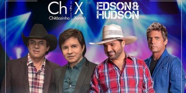 Edson & Hudson e Chitãozinho & Xororó dividem o mesmo palco na Estância Alto da Serra