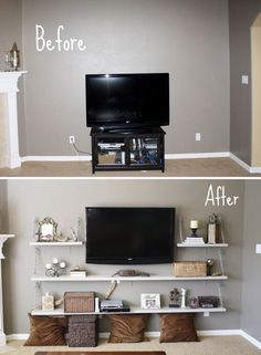 DIY Shelves, Good Idea Also If You Have A Small Bedroom And Not Enough Room.  Tv Stand DecorDiy ...
