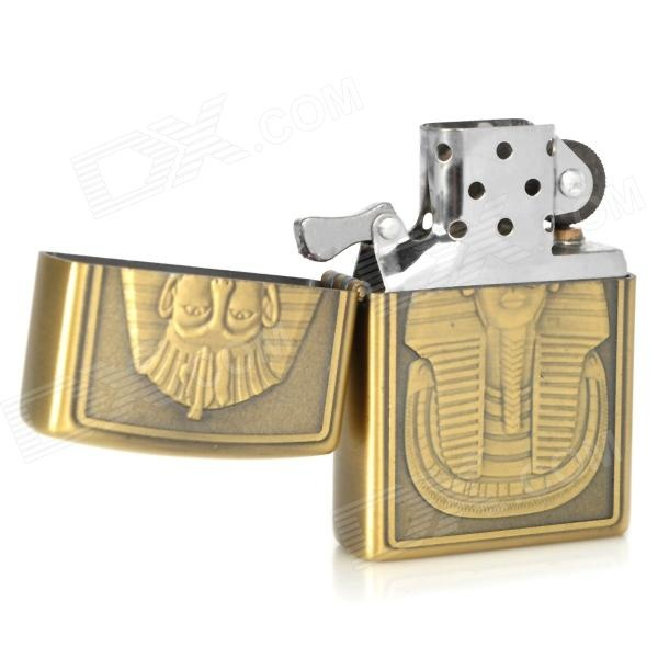 EARTH Pharaoh Pattern Windproof Zinc Alloy Butane Lighter