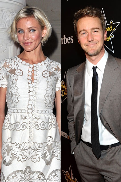 "Cameron Diaz reportedly dated Edward Norton in 1999, when the two were spotted getting ""cozy"" over Super Bowl weekend, though the two never publicly admitted they were a couple."