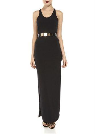 Abbey Clancy Chrome Belt Maxi Dress £30