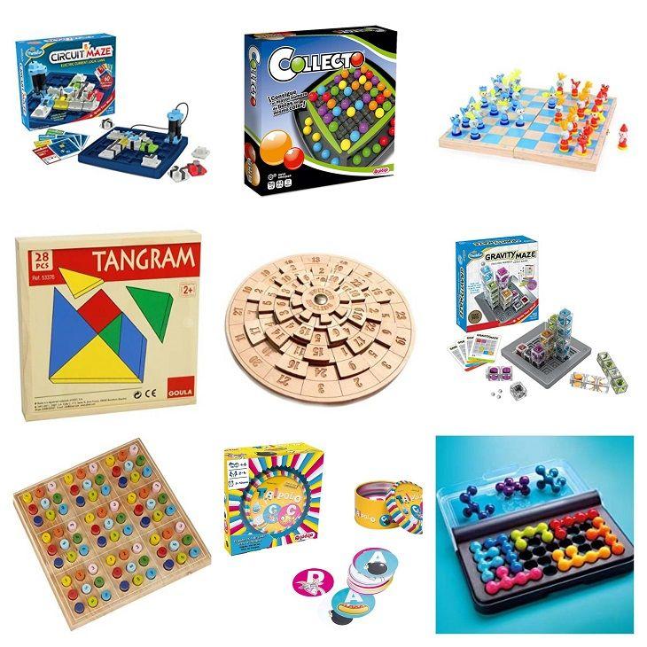 Selección de 10 juegos de mesa de lógica que también favorecen la capacidad de razonamiento de los alumnos de Primaria e Infantil. Brain Games, Mini Games, Blog, Sunday Funday, Ideas, House, Special Education, School, Home
