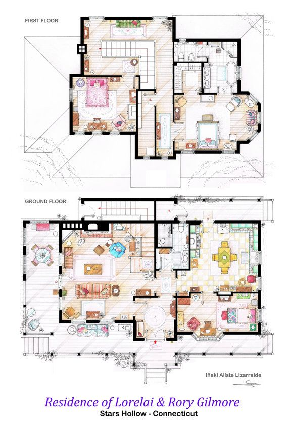 53 best Sitcom Floor Plans images – Sitcom House Floor Plans