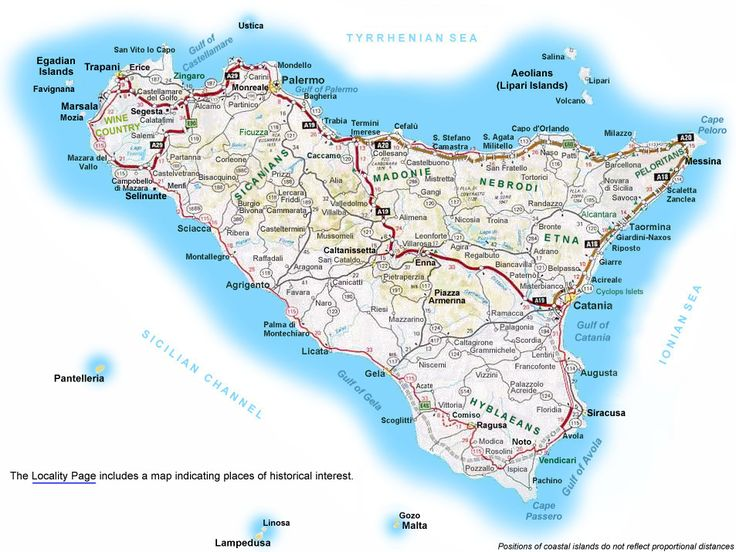 Vito Corleone was born in Sicily so the menu will be Sicilian certainly. Here's a map of the Island!