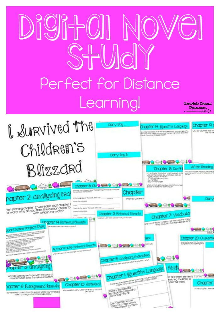 Digital I Survived The Children S Blizzard Novel Study For Distance Learning In 2020 Distance Learning Novel Studies Canadian Social Studies