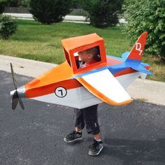 How to Make an Airplane Costume | eHow. Halloween is all about fun and kids (even for adults who like to act like kids.) Cute! Super Cool for any boy!!