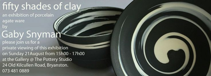 Beautiful ceramics exhibition by exciting new South African ceramic artist Gaby Snyman - Must Go!