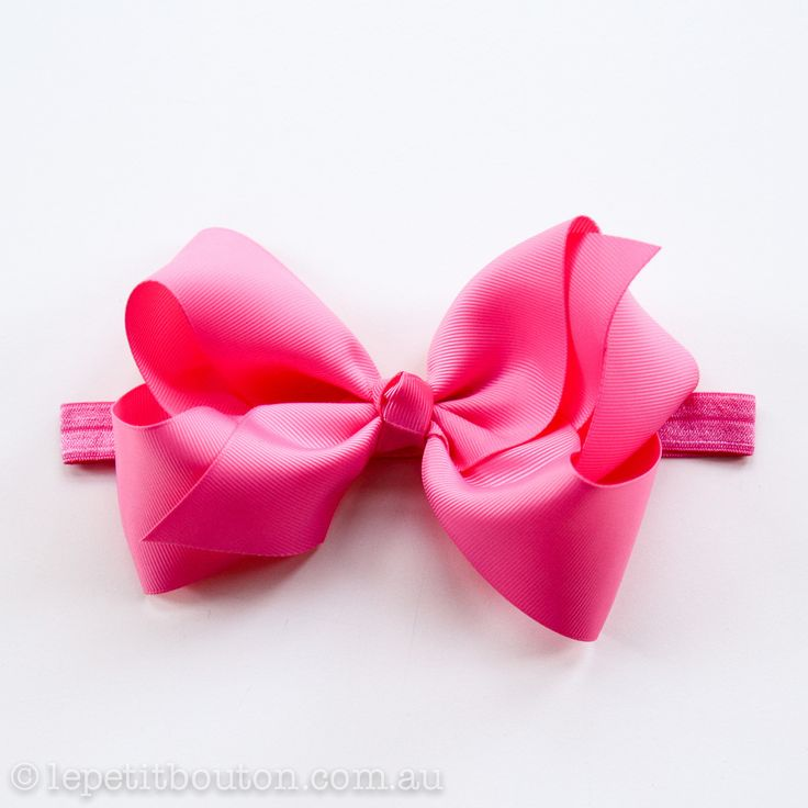 "Large Bow ""Charlie"" Hot Pink – Le Petit Bouton"