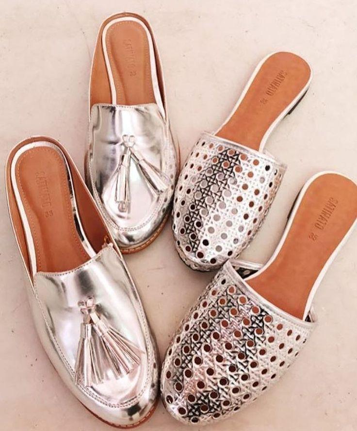 Mais metalizados da @lojasrenner ❤️😍 quero muiiiito o primeiro! Na verdade, estou louuuuca por um sapato mule! Trend Alert total!