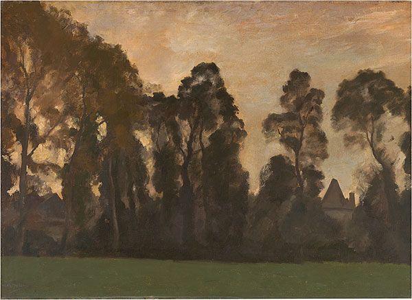 Max Meldrum (Australian, born Scotland, 1875-1955), Four o'clock, c.1910. Oil on canvas, 70.2 x 96.3 cm. National Gallery of Australia, Canberra.