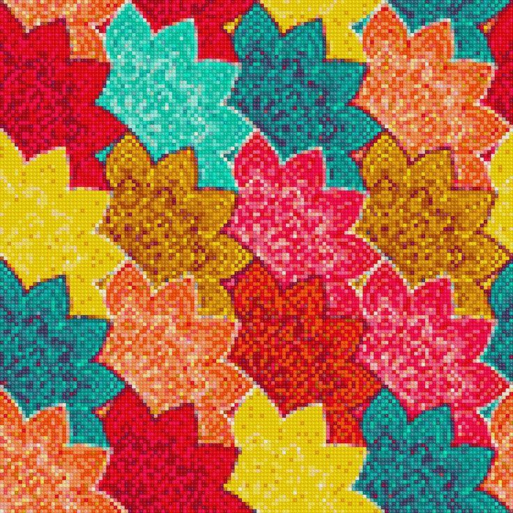 Leaves Pattern Cross Stitch APP