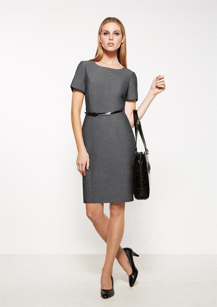 Biz Corporates Ladies Short Sleeve Shift Dress - Uniform Wholesalers