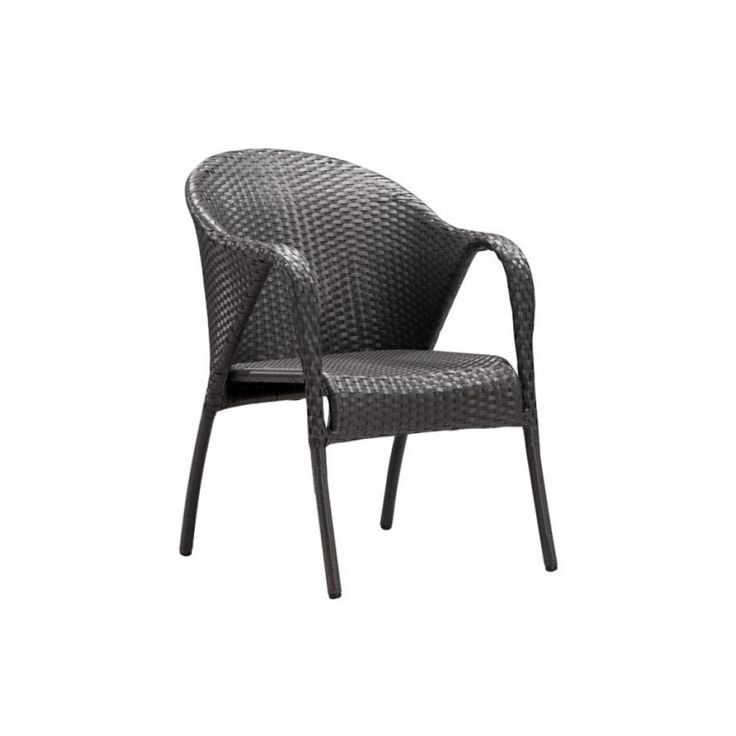 Espresso Dining Chair - Montezuma https://www.studio9furniture.com/outdoor/patio-chairs/montezuma-dining-chair-espresso  This wide chair brings the resort to home with its transitional piece sports a synthetic weave that is UV protected.