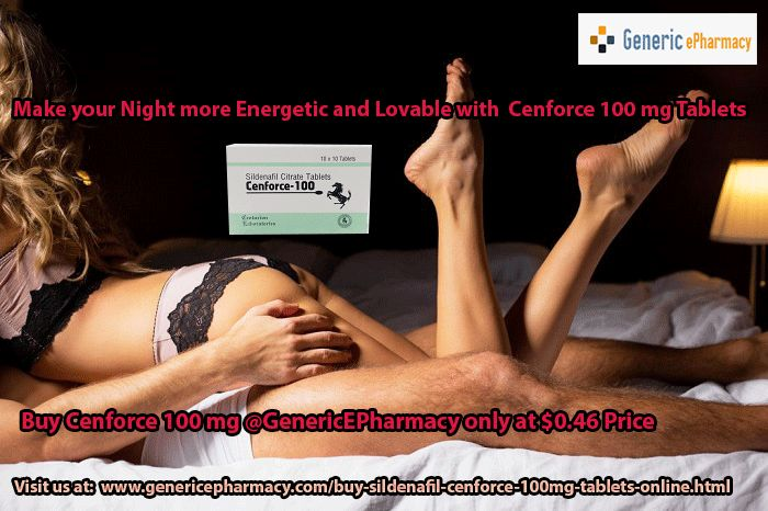 #Cenforce 100mg cure the failure of getting an #erection with your partner or spouse. To accomplish this men's health problem or impotency, buy Cenforce 100 mg for #impotence at best price, from our online pharmacy called #GenericEPharmacy and get it delivered to your place within few days with $5 medicine extra on E-Check payment. Get full information about how and where to buy cenforce 100mg online, Visit us at…