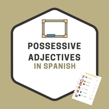 This is a worksheets students can use to practice and learn possessive adjectives in Spanish.The first page includes illustrations and examples to help the students to understand qand remember. The second page includes a table that explains the different forms of possessive adjectives (feminine, masculine, singular, plurar, etc).