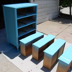 How To Spray Paint Furniture - thorough tutorial takes you through all the steps on how to get a smooth paint finish that won't peel.