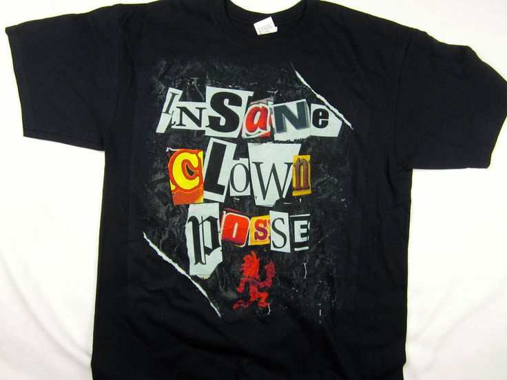 ICP INSANE CLOWN POSSE rock & roll tour Music tee shirt men's black size LARGE #INSANECLOWNPOSSE #GraphicTee
