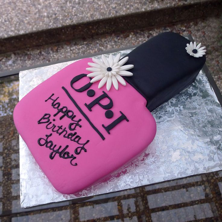 nail polish cake. This would be the perfect birthday cake for me.
