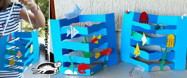 Super easy yet stunning 3 D ocean diorama