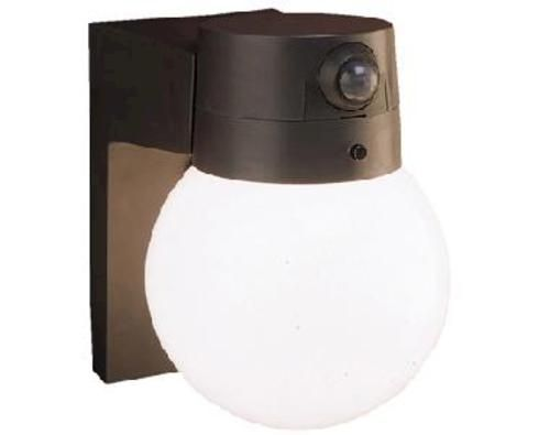 Wall Mount Globe Entryway Motion Activated Security Light