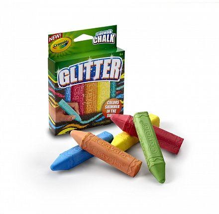 Мел для асфальта с блестками, 5 цветов (Crayola, 03-5804) купить в магазине детских игрушек ToyWay
