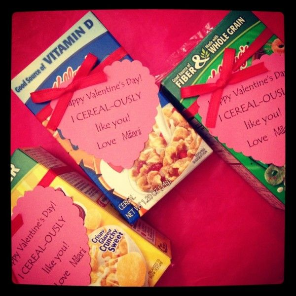 10 Easy Homemade Valentine's Ideas - Cereal-ously Cool Valentine's Day Cereal Box Valentine's