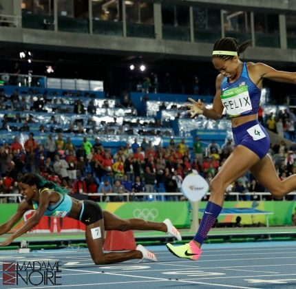 While Allyson Felix was a favorite to win the 400 meters, Bahamas' Shaunae…