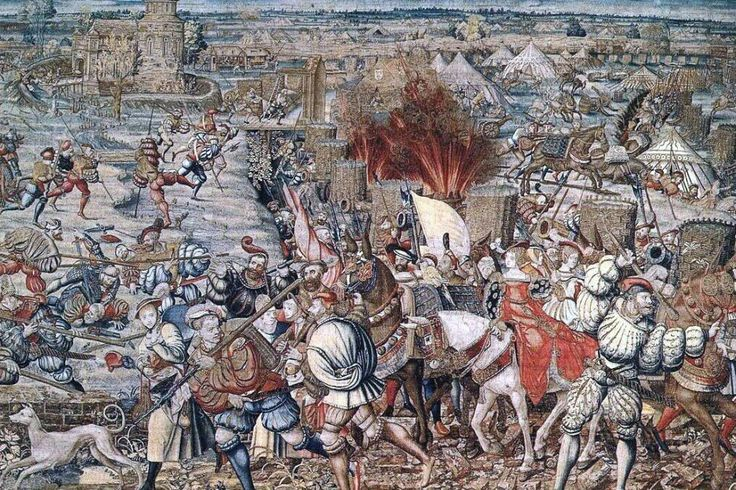 Canvas Battle of Pavia after drawing Bernard of Orley