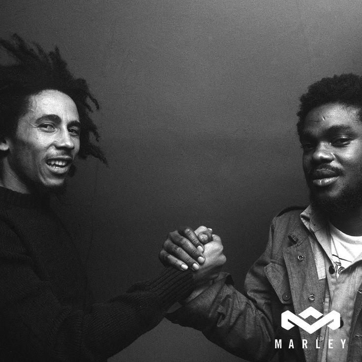 "Bob Marley with Aston ""Family Man"" Barrett"