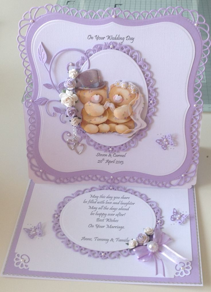 Wedding easel card.