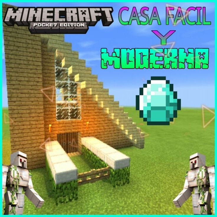 M s de 17 ideas fant sticas sobre casas minecraft f ciles for Casa moderna tutorial facil de hacer