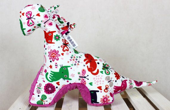 Sensory Toy Dinosaur Cats Raspberry Mascot Newborn Gift by NuvaArt