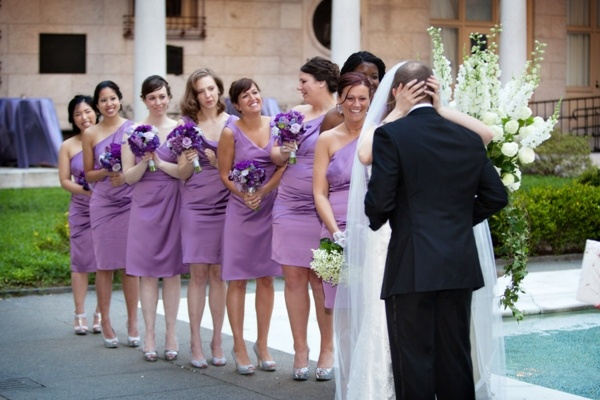 #best #bridesmaids #dresses #purple Real Boston Wedding at the Boston Public Library by Person & Killian Photo on Marry Me Metro a city wedding blog Real Boston Wedding at the Boston Public Library by Person & Killian Photo on Marry Me Metro a city wedding blog 34