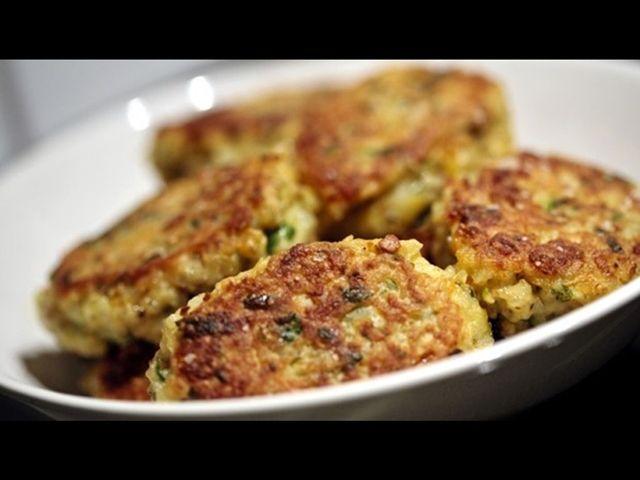 Placičky z rýže a zeleniny.