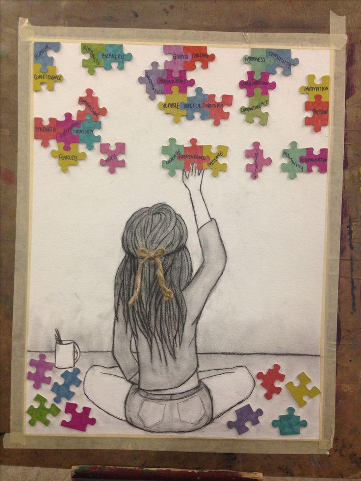25 best ideas about puzzle art on pinterest puzzle for Inspirational art project ideas