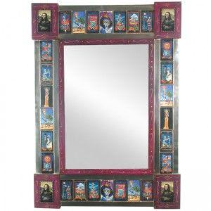 Day of the Dead bathroom mirror