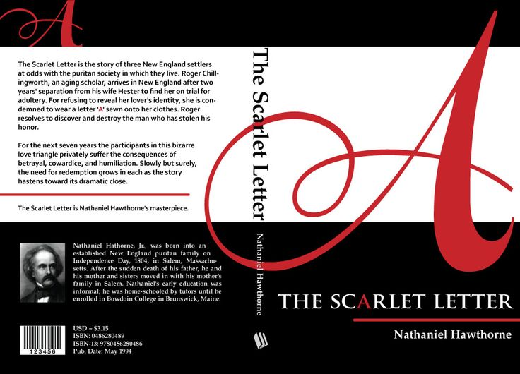 Re Design Of The Scarlet Letter Book Cover Personal Project