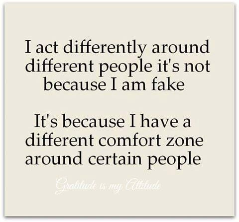 Hence why I'm so shy when I first meet people compared to being crazy with others lol