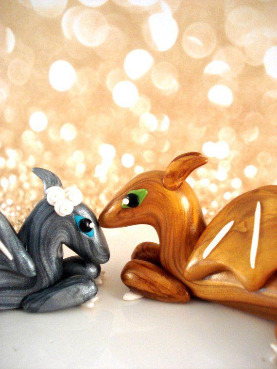 Custom Dragon Wedding Cake Topper By Patchrabbit On Etsy 220 00 Artesanato Delicadeza