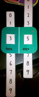 Make these from some paint chips to include in learning about place value or numbers to 100. (Use in place of pulling cards for partner games)