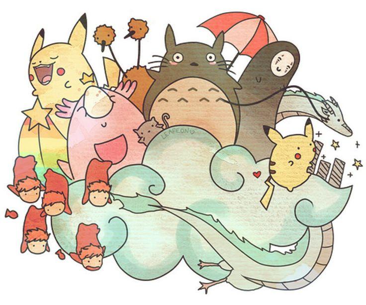 Pokemon/Studio Ghibli mashup