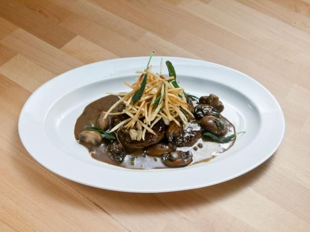 Get Beef Tenderloin Tournedos with Herby Matchstick Frites Recipe from Food Network