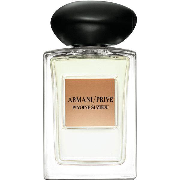 Giorgio Armani Pivoine Suzhou Eau de Toilette found on Polyvore featuring beauty products, fragrance, perfume, giorgio armani, eau de toilette perfume, edt perfume, giorgio armani perfume and flower fragrance